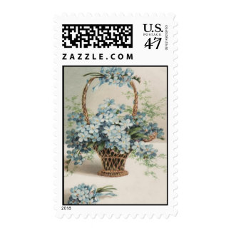 Basket of Forget-Me-Nots Mother's Day Card Postage