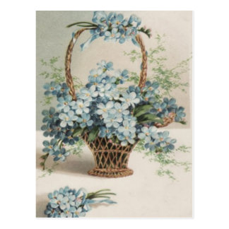 Basket of Forget-Me-Nots Mother's Day Card Postcards