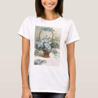 Basket of Forget-Me-Nots Mother's Day Card T-Shirt