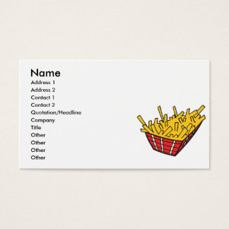 basket of french fries business card
