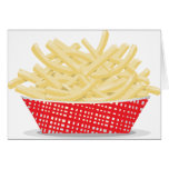 Basket Of French Fries Greeting Cards