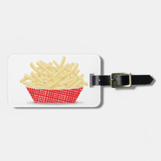 Basket Of French Fries Luggage Tags