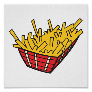 basket of french fries poster