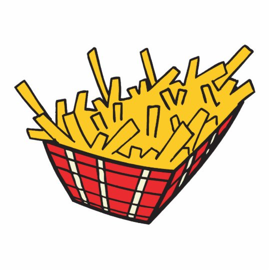 basket of french fries statuette