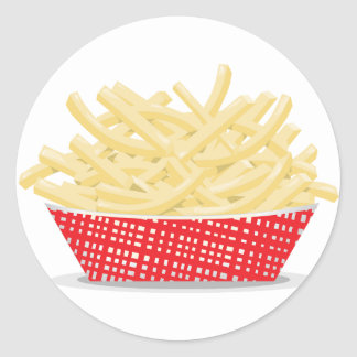 Basket Of French Fries Stickers
