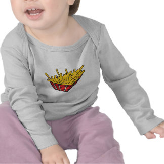 basket of french fries tee shirts