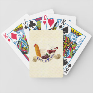 Basket of French Treats Bicycle Poker Cards