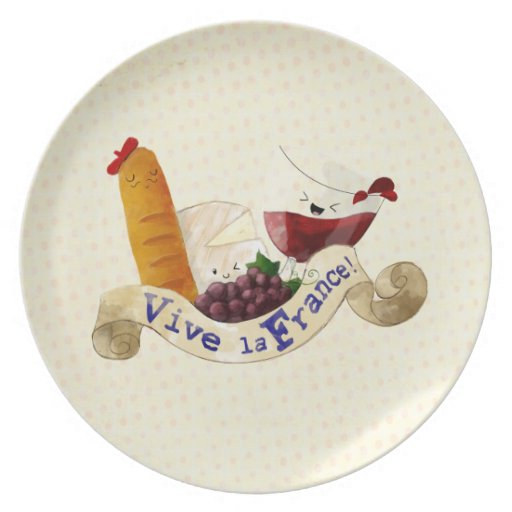 Basket of French Treats Dinner Plates