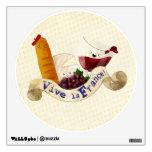 Basket of French Treats Wall Sticker