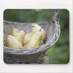 Basket of freshly picked pears mouse pad