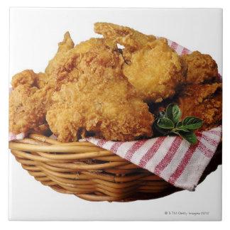 Basket of fried chicken ceramic tile