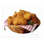 Basket of fried chicken postcard