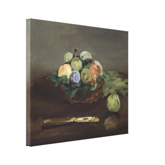 Basket of Fruit by Edouard Manet Gallery Wrap Canvas
