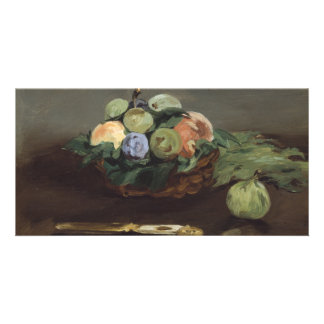 Basket of Fruit by Edouard Manet Card