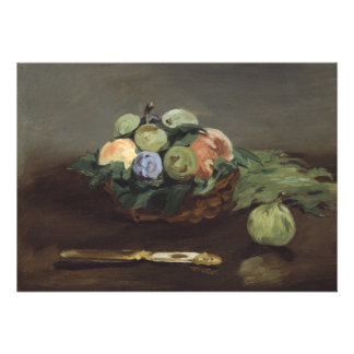 Basket of Fruit by Edouard Manet Custom Invitation