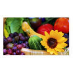 Basket of Garden's Harvest Double-Sided Standard Business Cards (Pack Of 100)