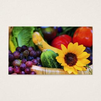 Basket of Garden's Harvest Business Card