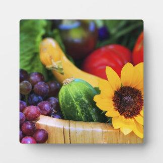 Basket of Garden's Harvest Display Plaque