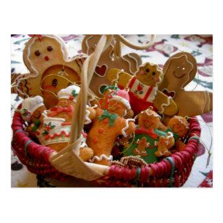 Basket of gingerbread christmas cookies Postcard