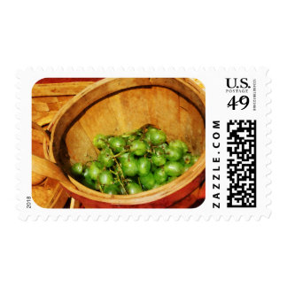 Basket of Green Grapes Postage