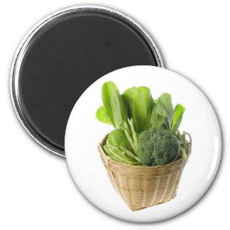 Basket of green vegetables fridge magnet