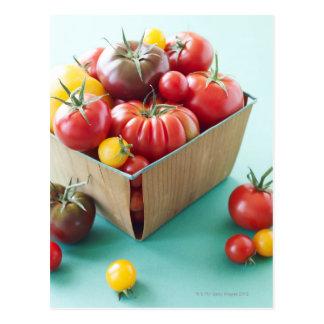 Basket of Heirloom Tomatoes Postcard