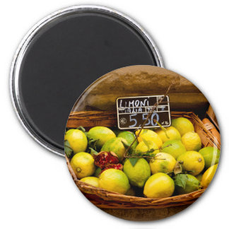Basket of Italian Lemons Magnet