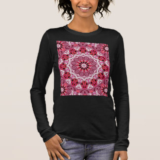 Basket of Jewels, Abstract Ruby Lace Candy Long Sleeve T-Shirt