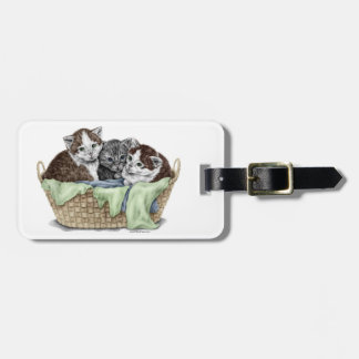 Basket of Kittens Tags For Luggage