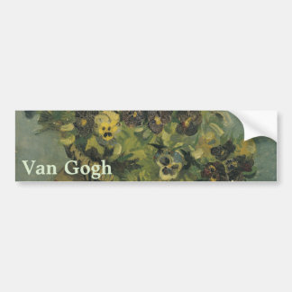 Basket of Pansies on a Small Table by Van Gogh Bumper Sticker