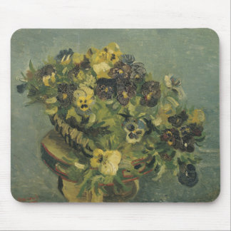 Basket of Pansies on a Small Table by Van Gogh Mousepads