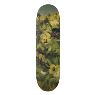 Basket of Pansies on a Small Table by Van Gogh Skateboard
