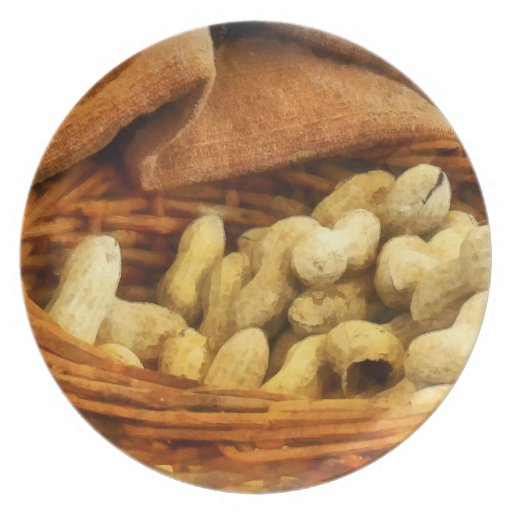 Basket of Peanuts Party Plates