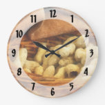 Basket of Peanuts Round Wall Clock