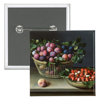 Basket of Plums and Basket of Strawberries, 1632 Pin