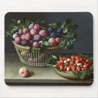 Basket of Plums and Basket of Strawberries, 1632 Mouse Pad