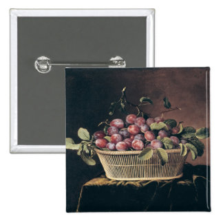 Basket of Plums Button
