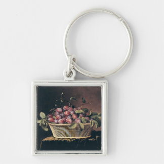 Basket of Plums Keychain