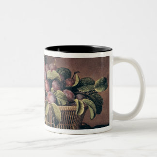 Basket of Plums Two-Tone Coffee Mug