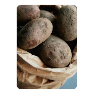 Basket of Potatoes Card