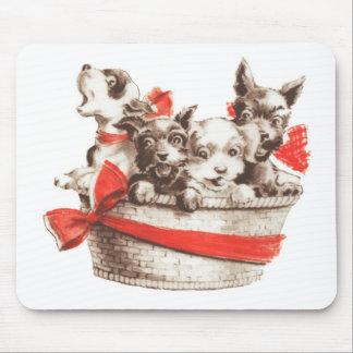 Basket of Puppies, Mousepad