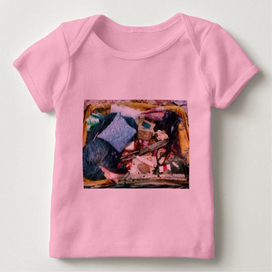 Basket of Sewing Supplies Baby T-Shirt