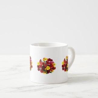 Basket of Single Dahlias Espresso Cup