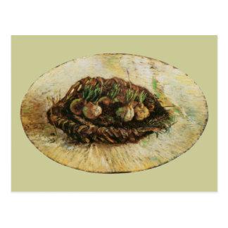 Basket of Sprouting Bulbs, Vincent van Gogh Postcard