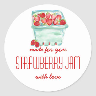 Basket of Strawberries Jam Labels Stickers