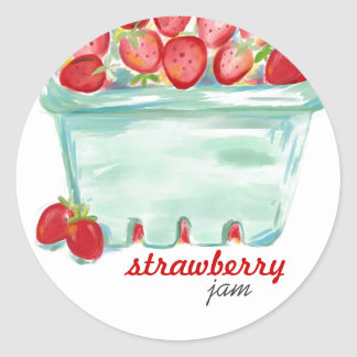 Basket of Strawberries Stickers