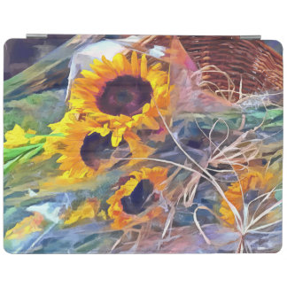 Basket of Sunflowers iPad Smart Cover
