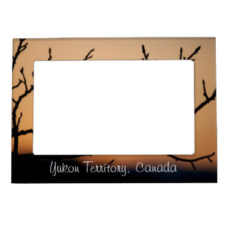 Basket of Sunset; Yukon Territory Souvenir Magnetic Picture Frame