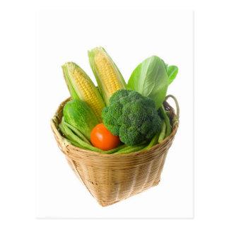 Basket of vegetables postcard