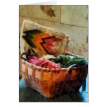 Basket of Yarn and Tapestry Cards
